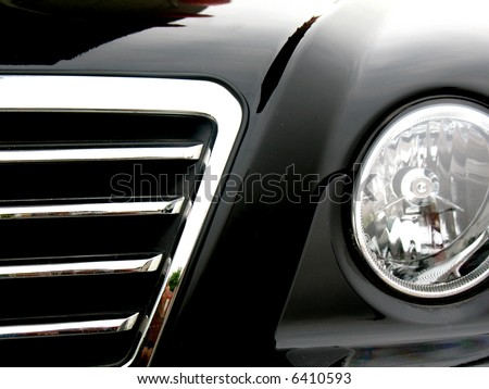 Car in front of  signal light
