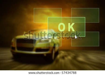 Car in the fire. Outdoors