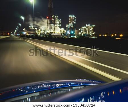 car industrial by night #1330450724