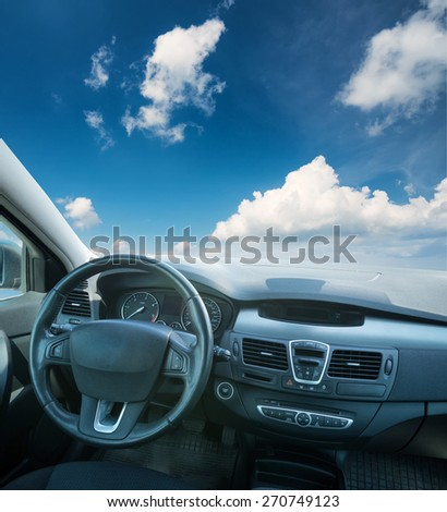 Car inside composition. Concept and idea #270749123
