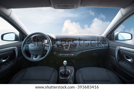 Car inside composition. Concept and idea  #393683416