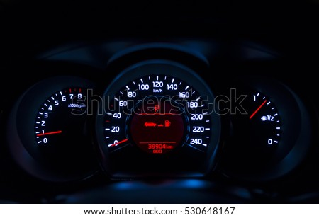 Car instrument panel, isn't present the text #530648167