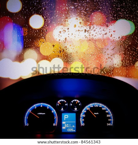 car instrument panel,rain window