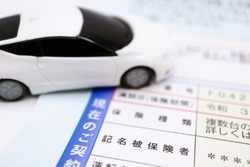 Car insurance documents. Translations: current policy, maturity date, policy period, warranties, insurance type, multiple vehicles, details, named insured, driving.