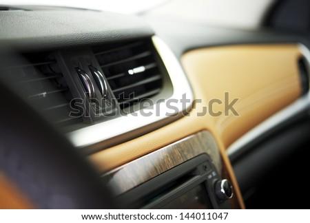 Car Interior - Car Vents Closeup. Vehicle Interiors Photo Collection.