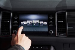 car interior - devices, the concept of driving