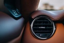 Car interior round air duct