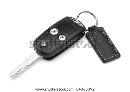 Car key, isolated on the white background, clipping path included.