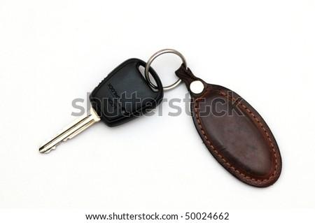 Car key isolated on white back ground