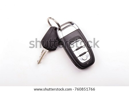 Car key isolated on white background  ストックフォト ©