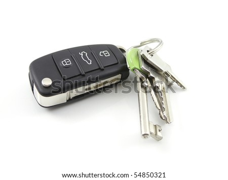 Car Keys isolated on white