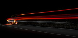 Car light trails.Very art image . Long exposure photo