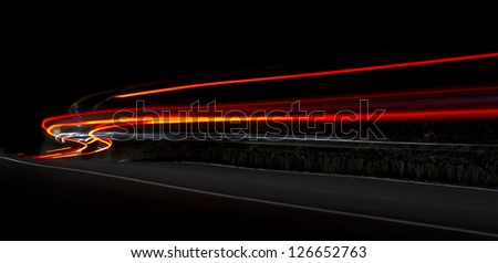 Car light trails.Very art image . Long exposure photo