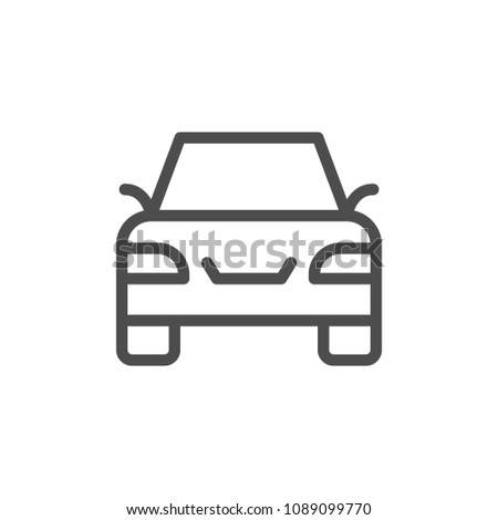 Car line icon isolated on white