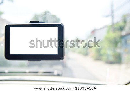 Car navigator - stock photo