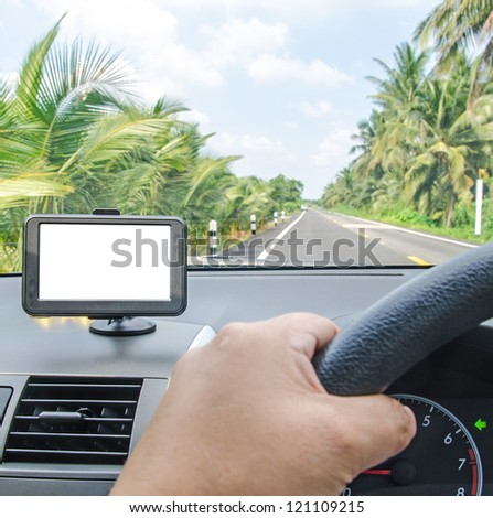 Car navigator with clipping path