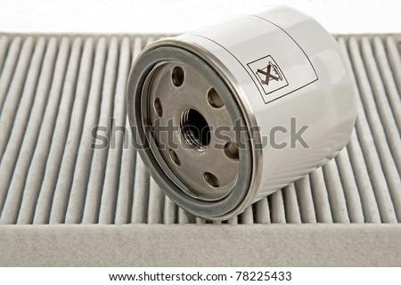 car oil filter and pollen filter