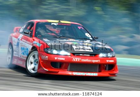 Car on drifting