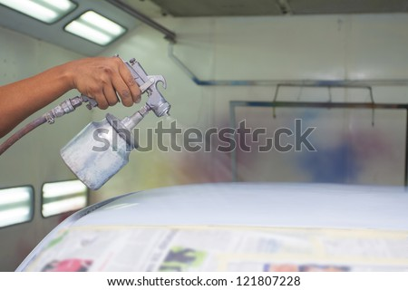 car painting with prime color