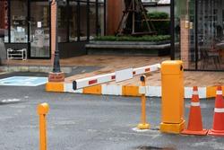 car park barrier for car park lot, automatic entry system.