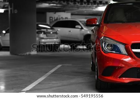 Shutterstock car parked on the underground parking