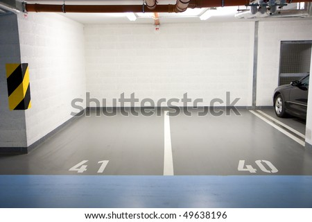 Car parking in an underground garage