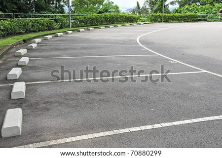 Car parking Lot With White Marking