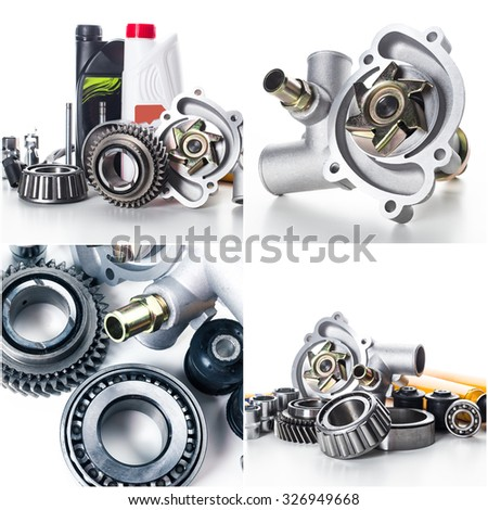 Car parts collage
