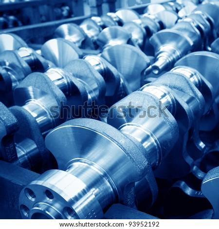Car parts: crankshaft, close close-up.