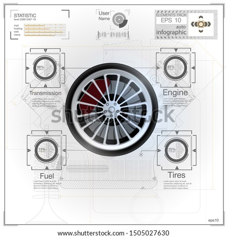 Car parts icons set. realistic of car parts vector icons for web
