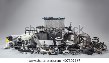 car parts on a gray background #407309167