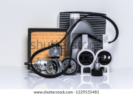 car parts on a white background #1229535481