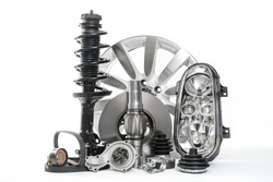 Car parts, Spare parts, Accessories for cars. Vehicle parts such as brake disc, water pump, headlight, shock absorbers, v-belts ...