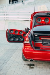 car power audio system. audio system in the car