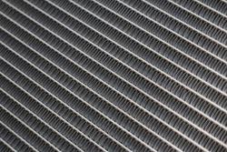 Car radiator close-up background texture. Selective Focus