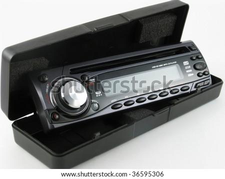 car radio isolated on white