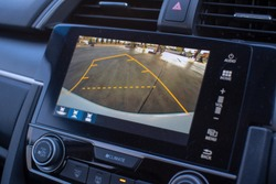 Car rear view system monitor reverse video camera.