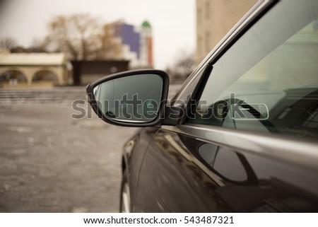 Car Rearview Mirror beautiful road