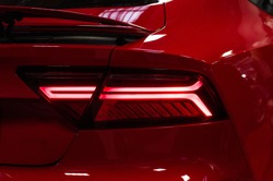 Car red taillights