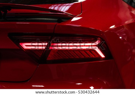 Photo of Car red taillights