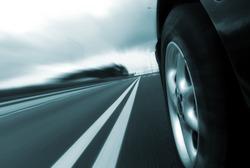 Car ride on road - motion blur