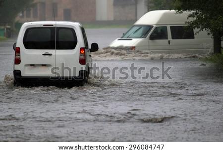 Фото из фотобанка. Потоп