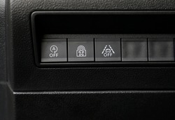 car's active safety (ESP, lane tracking assistant and child safety lock) buttons