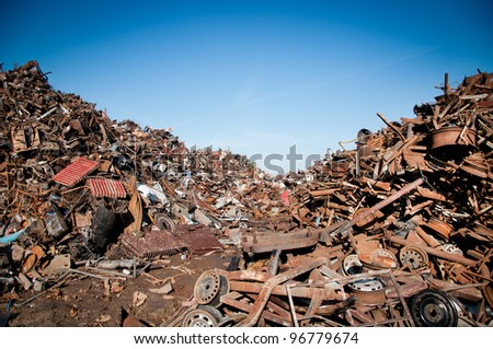 Car scrap - stock photo