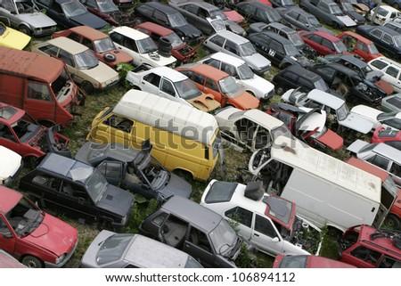 Car scrap, scrap metal, recycling