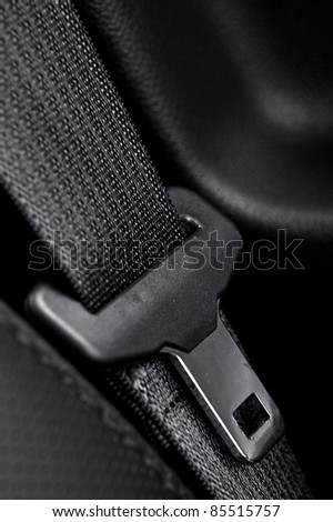 Car Seat Belt. Driving Safety. Click It or Ticket.