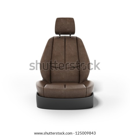 Car seat isolated on a white background
