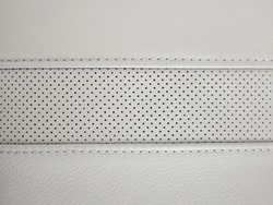 Car seat leather texture with seams, dotted