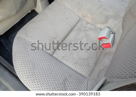 Car seats are stain caused by its use.