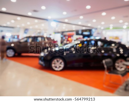 car showroom blur for background